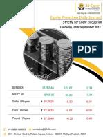 Equity Premium Daily Journal 28th September 2017 Thursday