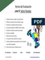 Criterios de Evaluacin Sobre Ruedas 6
