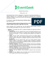 EventGeek Terms of Service