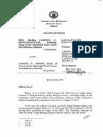 Hon. Maria Cristina C. Botigan-Santos vs. Leticia C. Gener