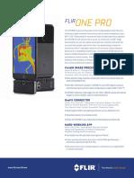 Flir One Pro Datasheet