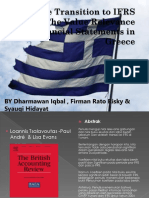 The Transition to IFRS in Greece