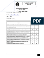 MATH2140 Numerical Methods 2018 Short