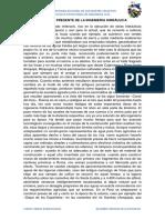 Pasado y Presente de La Ingenieria Hidráulica El Perú Con Un Pasado Milenario