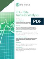 RTA(Rate Transient Analysis) Fact Sheet