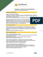 Agenda de Actividades Destacadas. Del 1 al 15 de octubre de 2017. Fundación Caja Mediterráneo