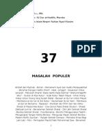 37 Masalah Populer Bidah Abdul Somad LC MA