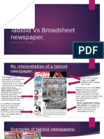 Tabloid vs Broadsheet Newspaper