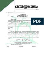 undangan Panitia Hari Besar Islam