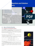 Chemical Reactions and Solution Chemistry