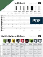 WD My Book Comparison Chart