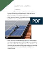 Tips supaya Solar Panel kita awet lebih lama.doc