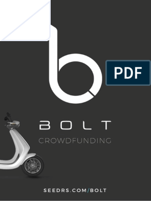 Bolt Seedrs Pitchdeck | Smartphone | Electric Vehicle
