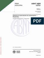 Emenda 1-NBR 15751-2013