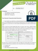 Quidos Technical Bulletin - 29/09/2017