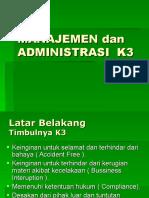 Manajemen & Administrasi K3.ppt