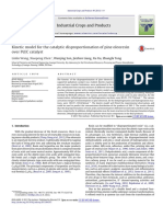Artigo - Kinetic Model for the Catalytic Disproportionation of Pine Oleoresinover PdC Catalyst