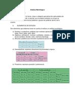 Análisis Morfológico- Analisis de Contenido