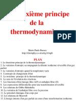 le deuxiéme Principe de la thermodynamique