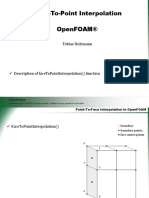 Face to Point Interpolation and Open Foam