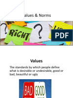 vocab ii - norms values