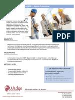 Formation expert en Qualité, Sécurité, Environnement et Radioprotection - Cycle Complet