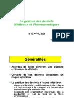 Conference n2 Gestion Des Dechets Medicaux Et Pharmaceutiques Mr Jaafar