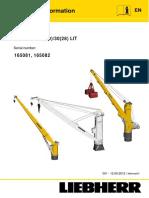 Fcc-cbg 25 Liebherr  Crane technical Manual