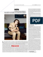 Laurence Debray Portrait Libération Du Vendredi 29 Septembre 2017