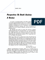 Perspectives on Death Anxiety a Review