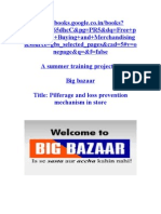 Project on Big bazaar on shrinkage & CSD
