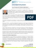 Communiqué de Presse - Pierre-Yves Rollet, nouveau Président de Cooltech Applications - Septembre 2017