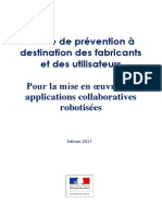 Guide de prevention pour la robotique collaborative