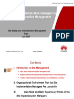 Guide to Site Implementation Managers in on-site Construction Management