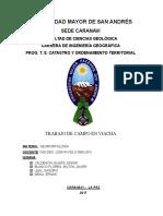 Trabajo de Campo- Geomorfologia - Viacha 2017-Umsa