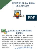 Seleccion de Funciones en Excel