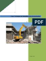 Cours Techniques de Demolition Et de Deconstruction 1