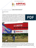 Adital - ¿Ha Patrocinado Cuba El Terrorismo