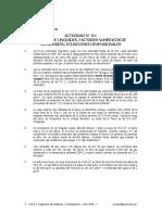 Actividad N° 01. Sistema de Unidades. Factores Numéricos de Conversión. Ecuaciones Dimensionales. Física I. Ingeniería de Sistemas y Computación. Ciclo 2015 - I