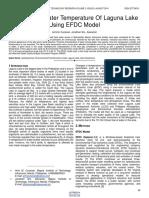 Analysis of Water Temperature of Laguna Lake Using Efdc Model