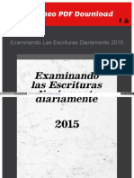 examinando las escrituras diariamente 2015