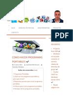 Como hacer programas portables ✔ - David Del Río Pascual
