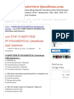 100 Top Computer Fundamental Questions and Answers Computer Fundamental Questions and Answers