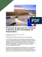 Proyectos de Agua Para Ica
