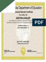 bauer certificate