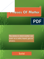 Phases of Matter & Phase Transition