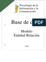 BASES de DATOS Modelo Entidad Relacion