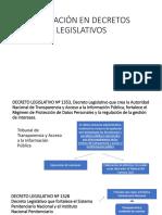 Aplicación en Decretos Legislativos