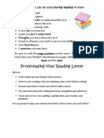sticky notes 2c proofreading your reading letter 2c and thinking stems 5b1 5d