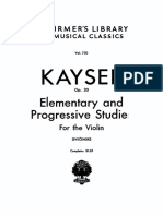Kayser 36 Studies Op.20 for Violin